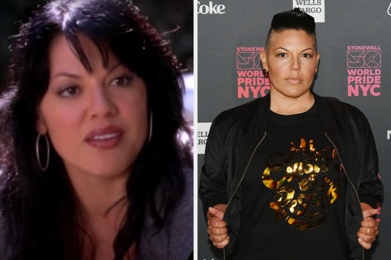 Side by side of Callie Torres from Grey's Anatomy and Sara Ramirez
