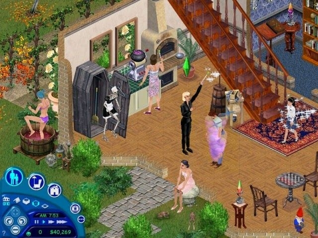 A simulated game of The Sims in which a lot of random stuff is happening under one roof