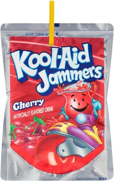 A cherry flavored Kool-Aid Jammer