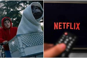 It's a picture of both ET and Netflix.