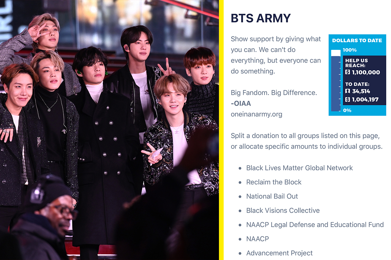 Bts Fans Match The Group S 1 Million Black Lives Matter Donation