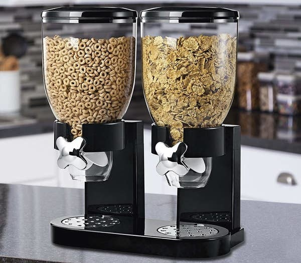 The dual cereal dispenser