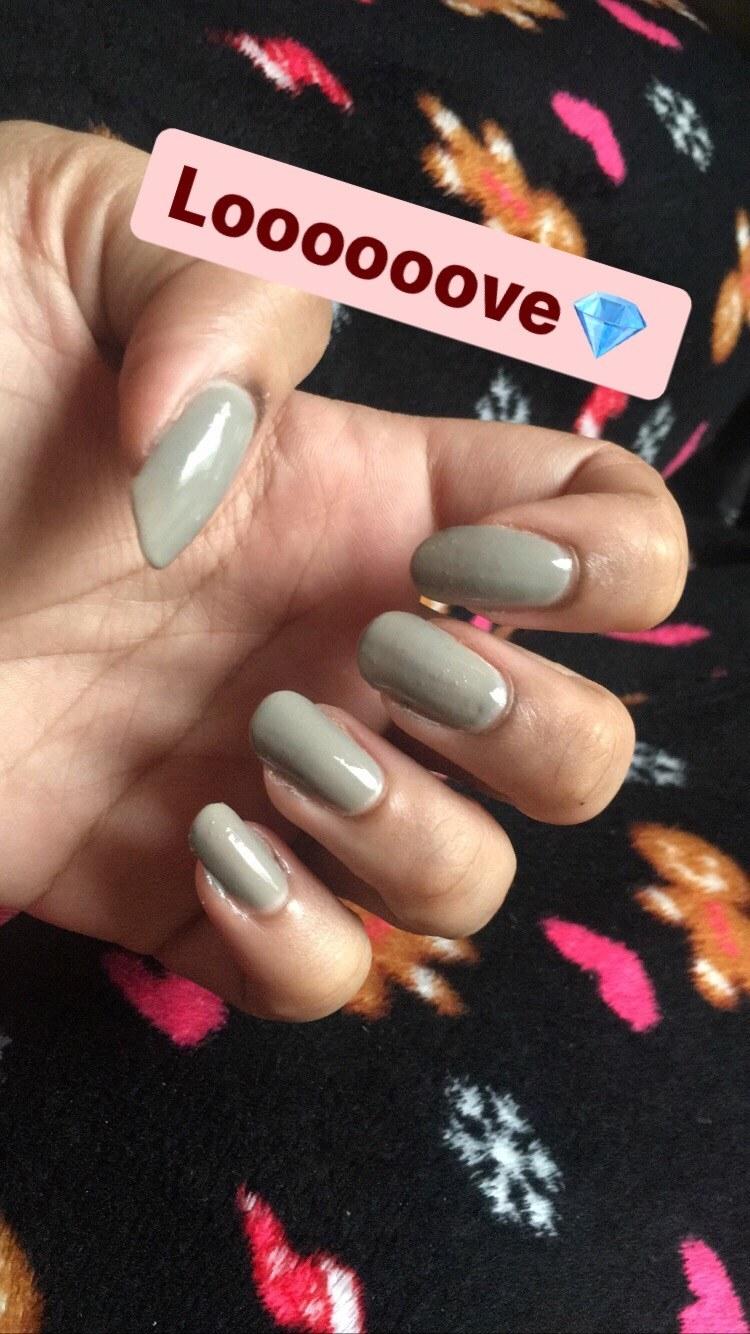 Close-up of my nails