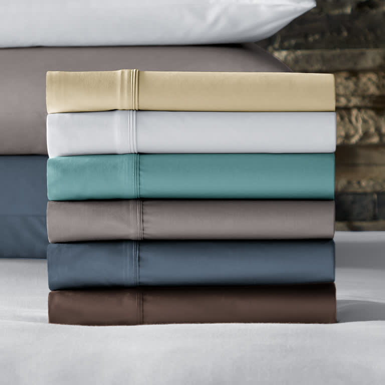 a stack of the sheets to showcase the six available colors