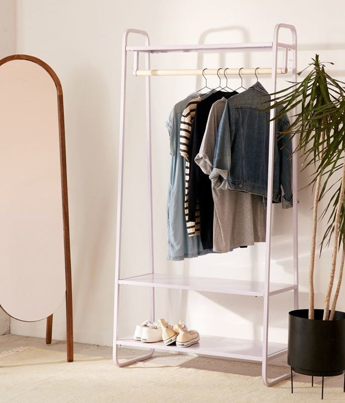 the lilac clothing rack