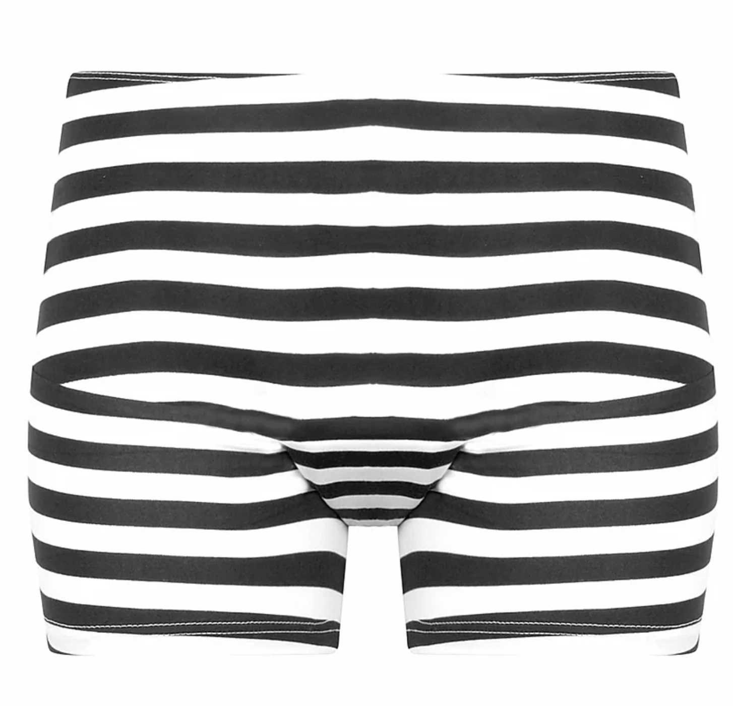 black and white striped high waisted shorts