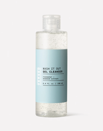 The bottle of face cleanser