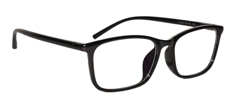 A pair of black anti-glare glasses