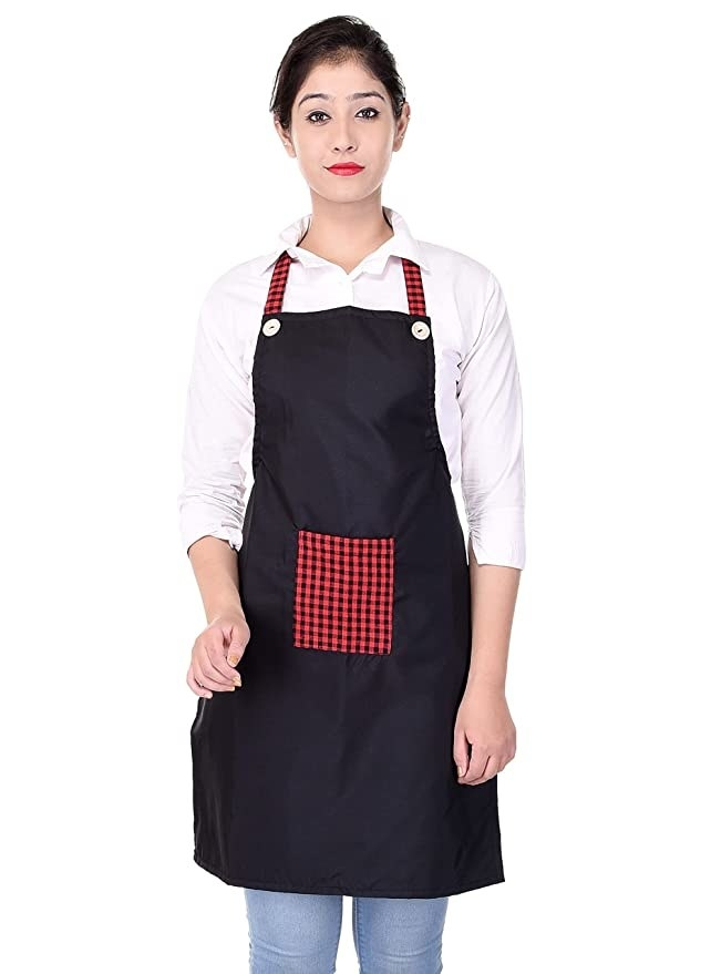 A woman wearing the apron