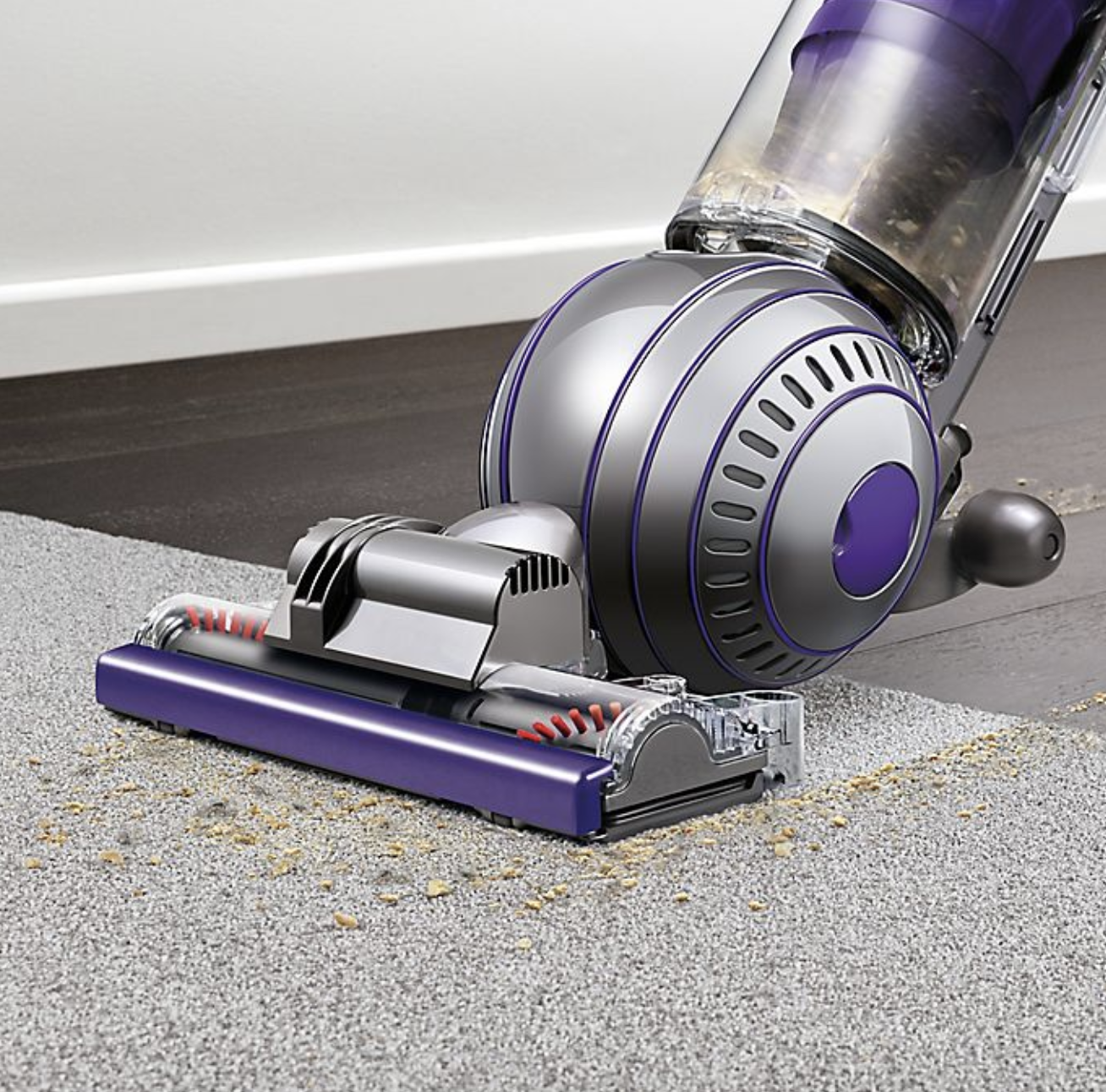 Dyson vacuum in use