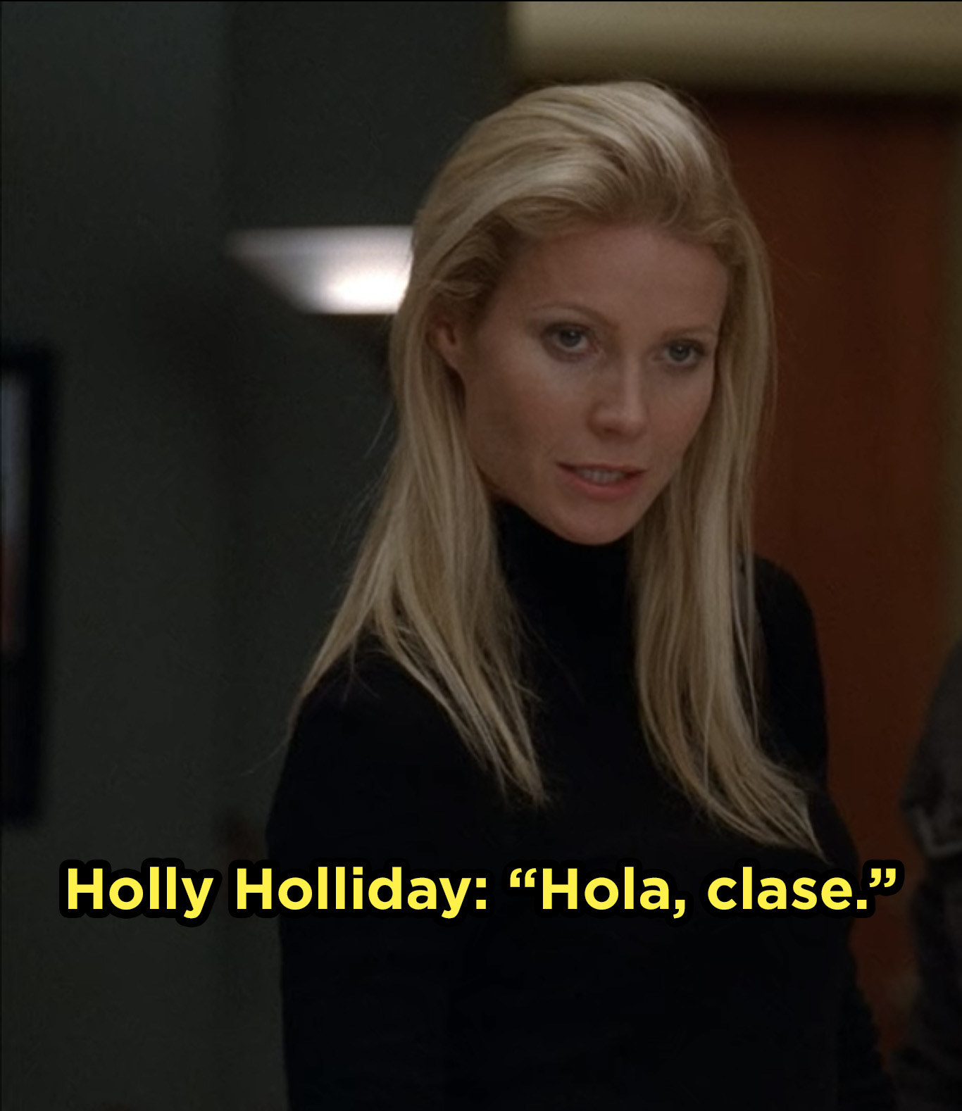 Holly Holliday introduces herself to The New Directions