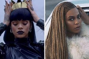Rihanna and Beyoncé