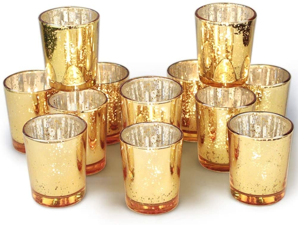 gold votive holders