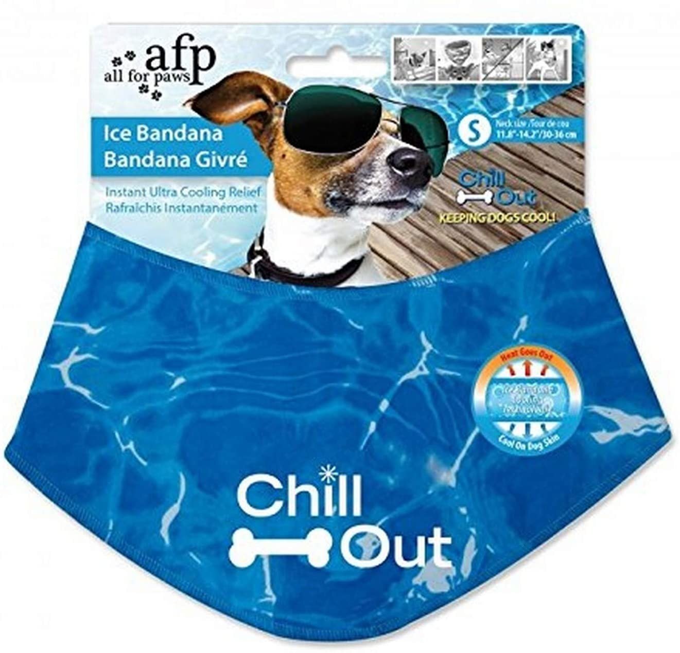 An ice bandana in its packaging