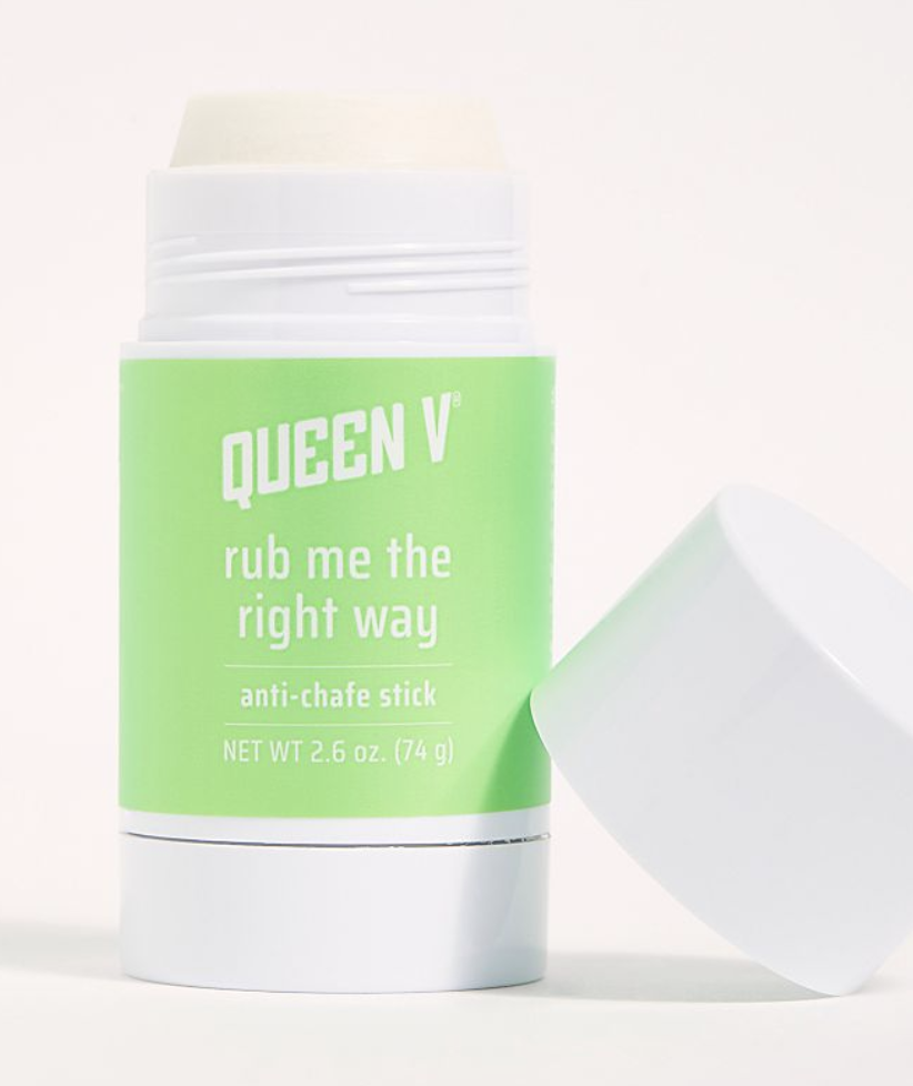 a deodorant-like stick with a light green label on it