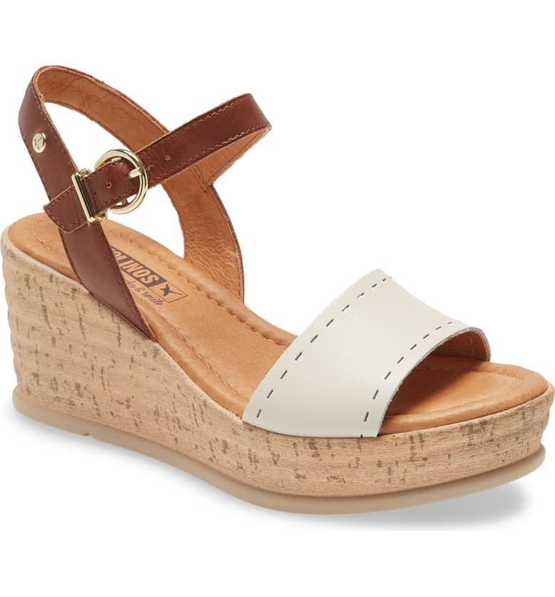 PIKOLINOS Miranda Wedge Sandal in nata leather colorway
