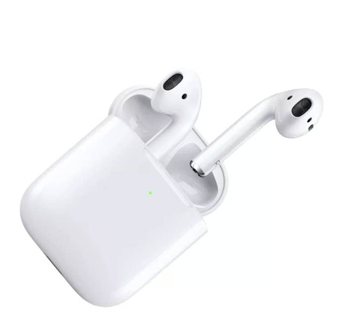 AirPods in a wireless charging case