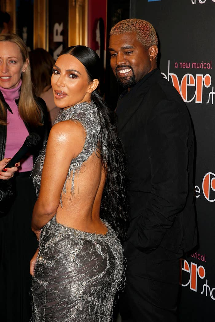 Kim and Kanye smiling in happier times