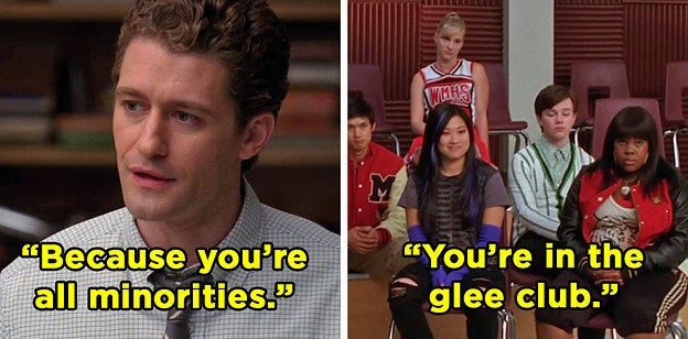 "Will telling the club ""Because you're all minorities. You're in the glee club"""