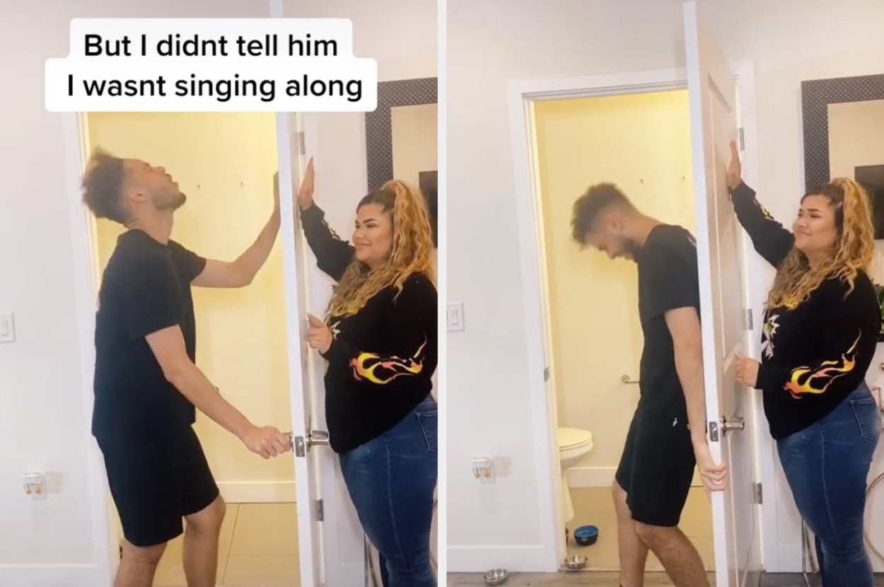 One partner dramatically sings as if he's in the movie