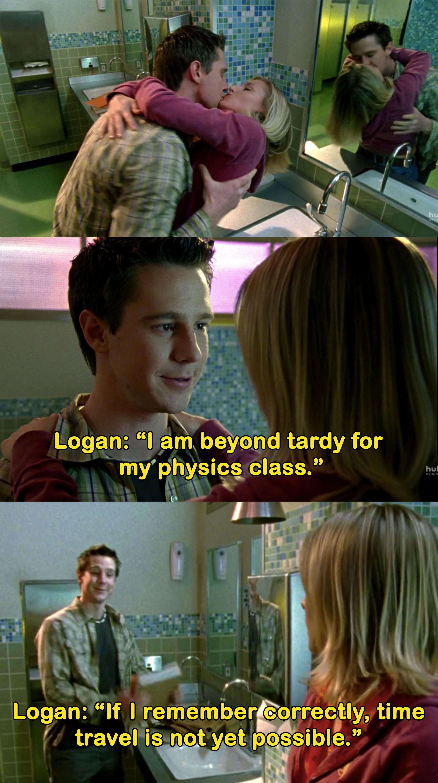 Logan says he's beyond tardy for class