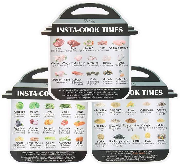 The Instant Pot Magnetic Cheat Sheet Set.