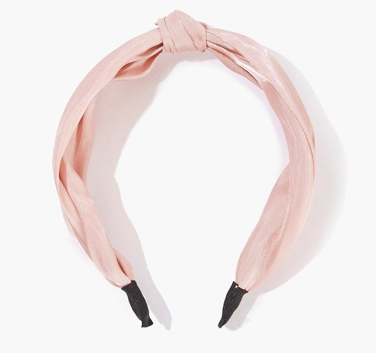The knotted headband in pink