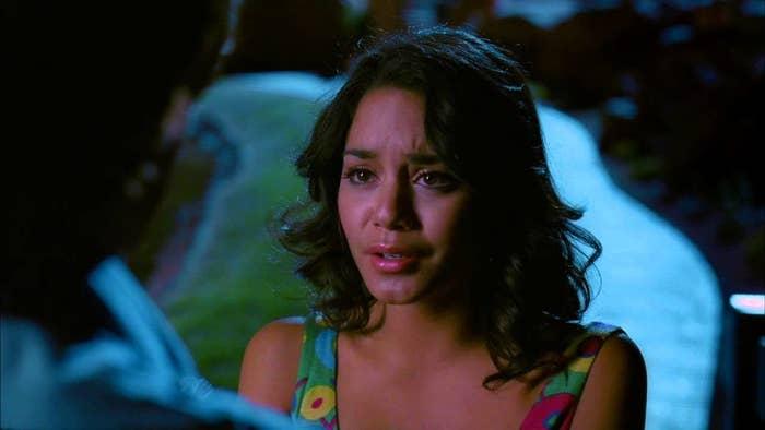 Gabriella tearfully gives Troy a goodbye