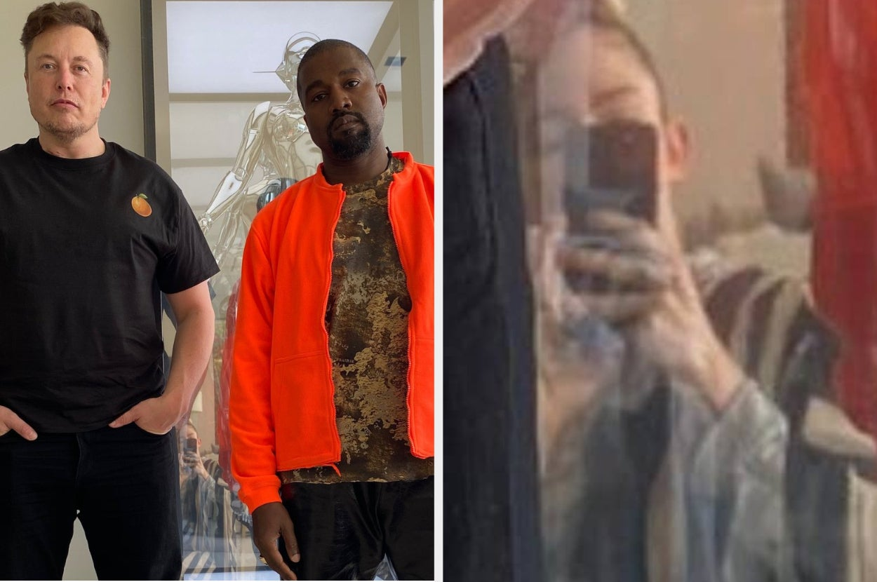 Grimes Took A Picture Of Kanye West And Elon Musk, But People Can't Get Their Eyes Off Grimes' Reflection