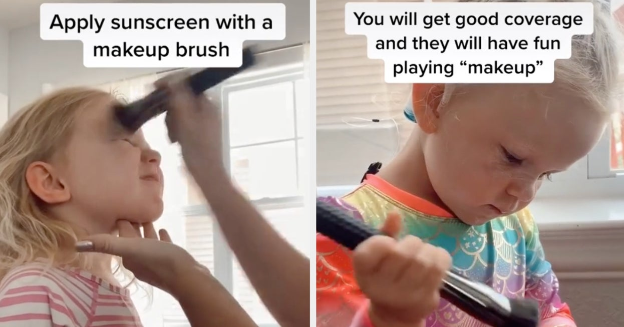 This Mom Tricks Her Kids Into Wanting To Put Sunscreen On By Telling Them It's Makeup, And It's Truly A Genius Hack