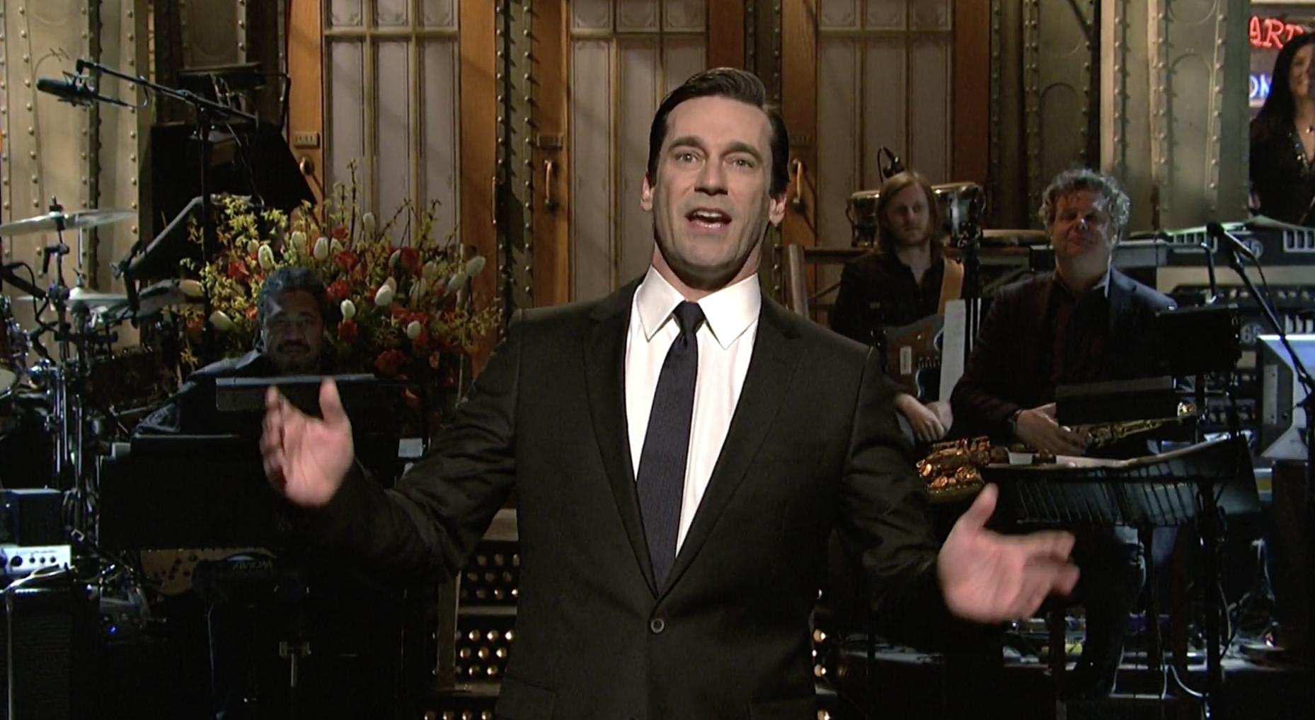"John Hamm hosting ""SNL"""