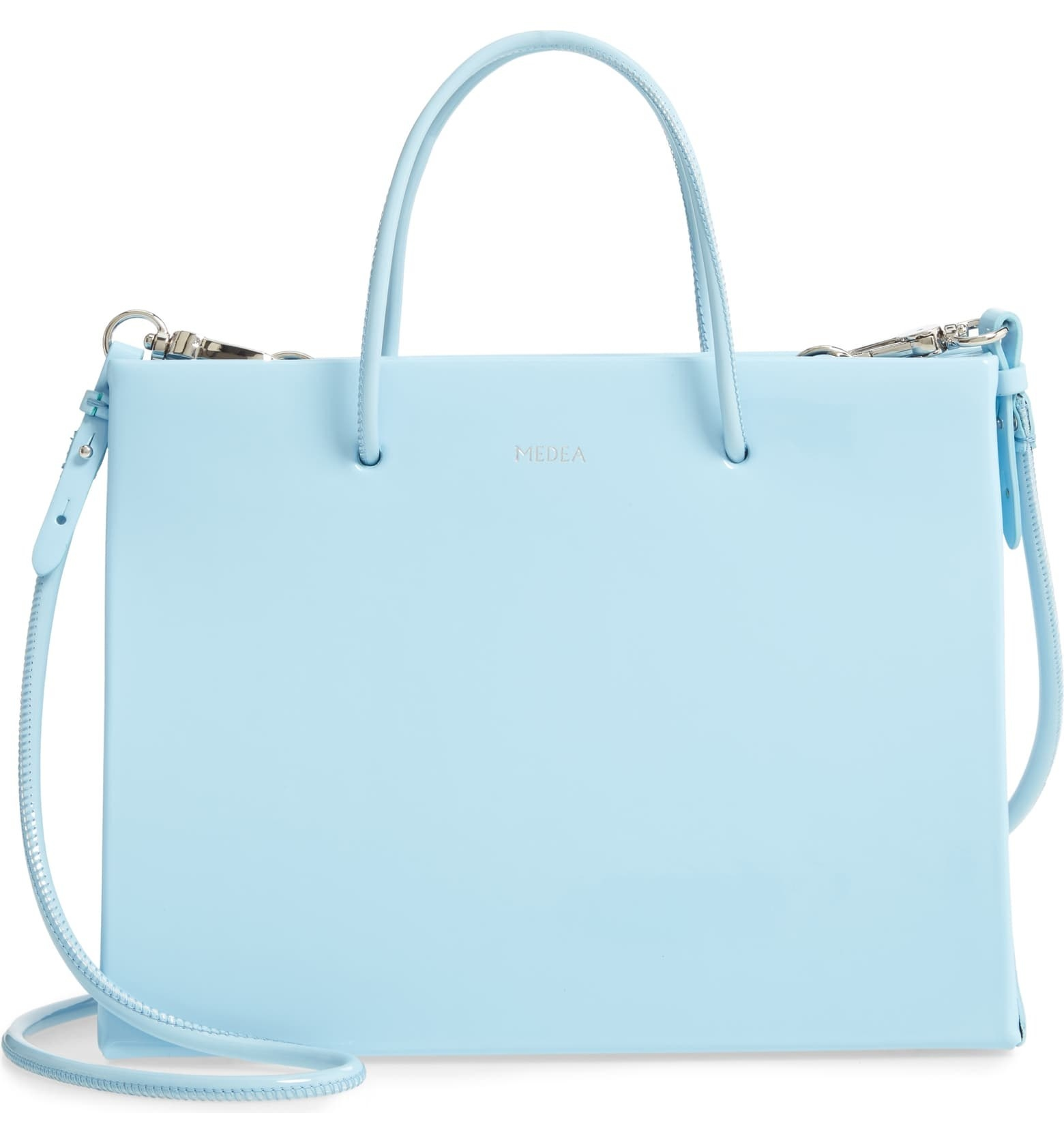 Hanna Vinyl Bag in light blue