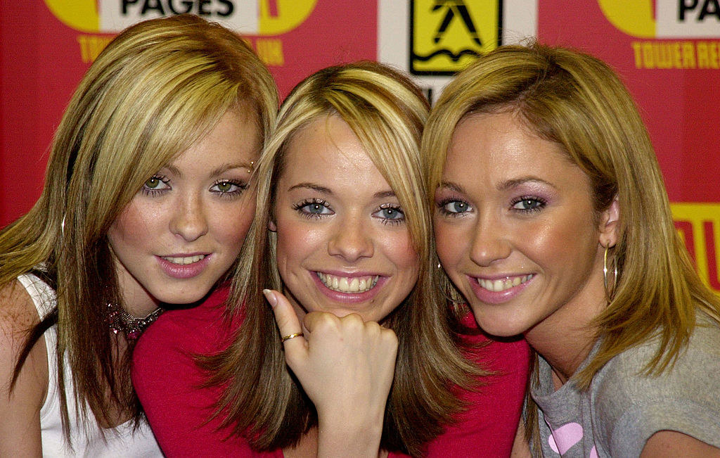 All three women have bright bleached chunky highlights that don't naturally blend in with the rest of their hair