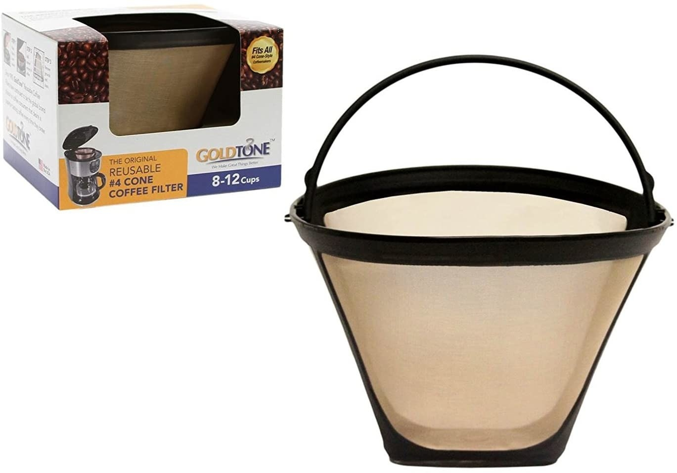 A bucket-shaped coffee filter