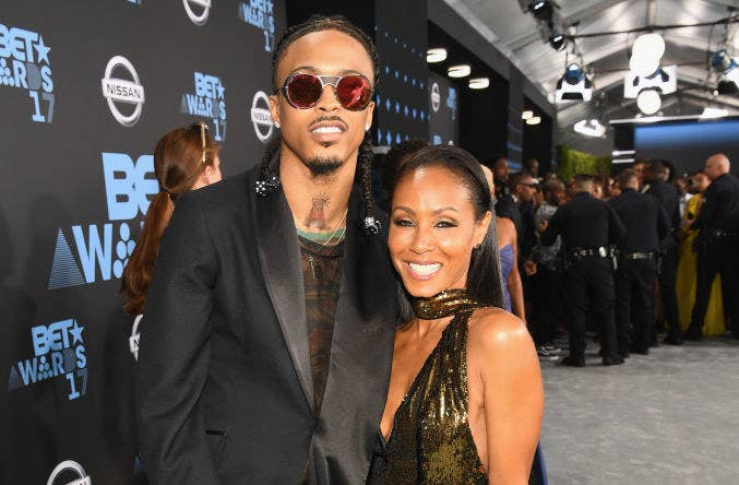 August Alsina and Jada Pinkett Smith on a red carpet