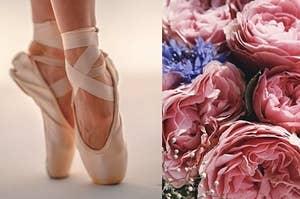 ballet shoes & flowers