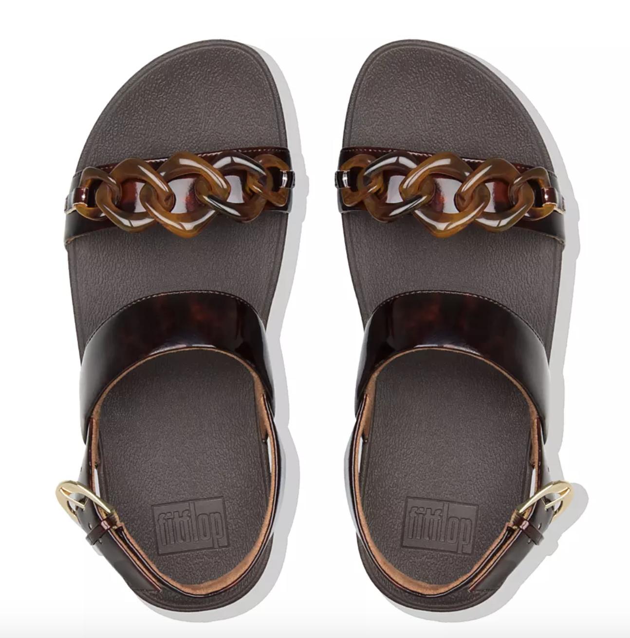 strappy tortoise sandals