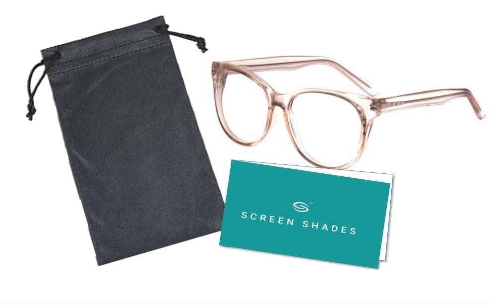 clear frames of blue light glasses