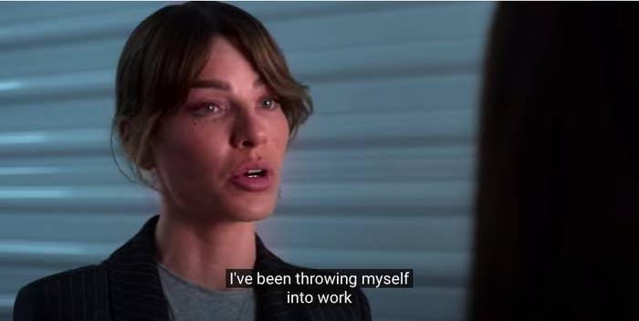 Chloe saying she's throwing herself into work