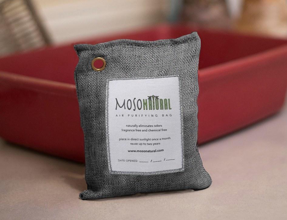 a grey pouch