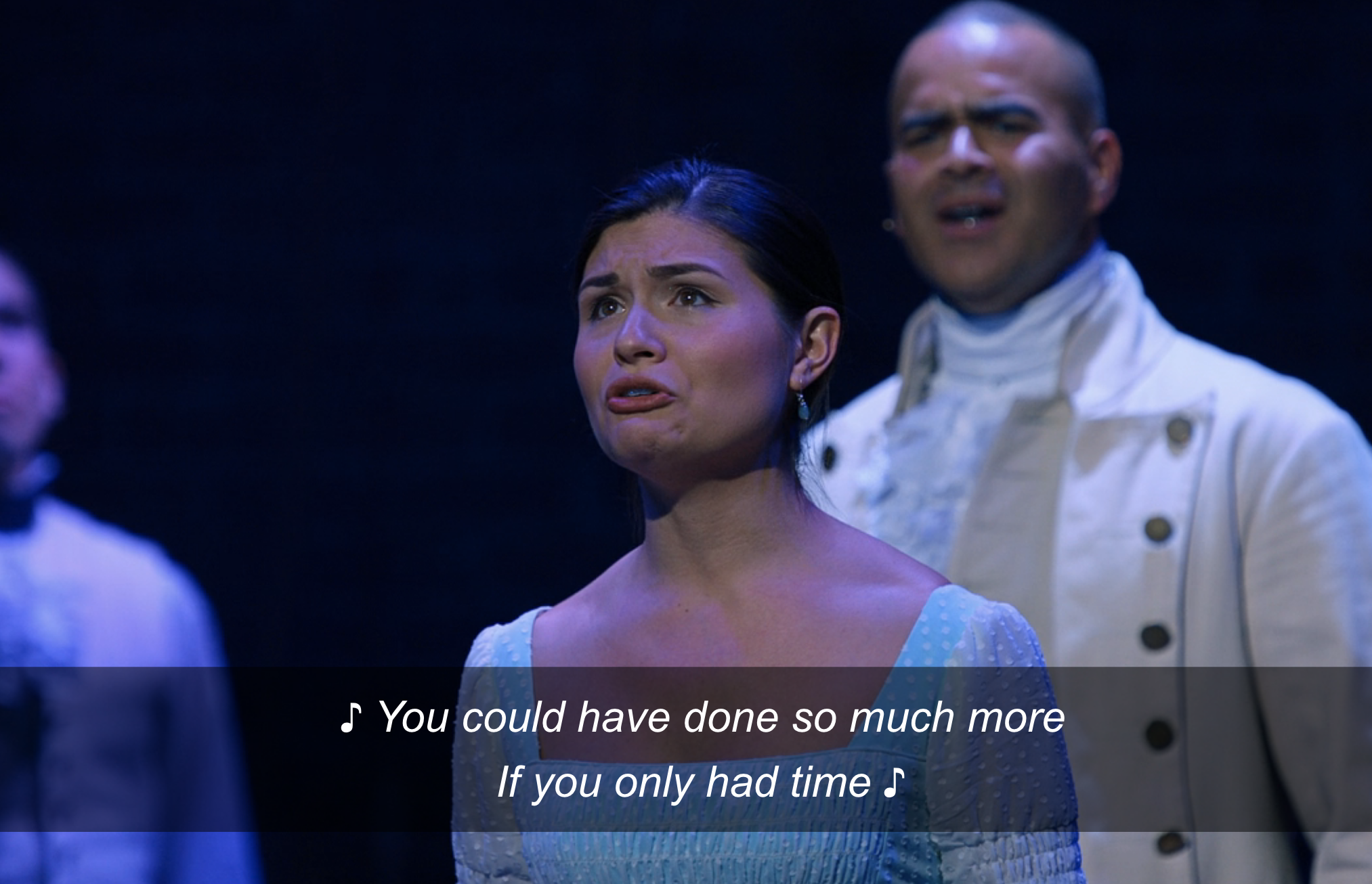 """Philippa Soo as Elizabeth singing """"You could have done so much more if you only had time"""""""