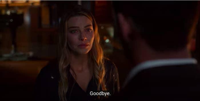 Chloe saying goodbye