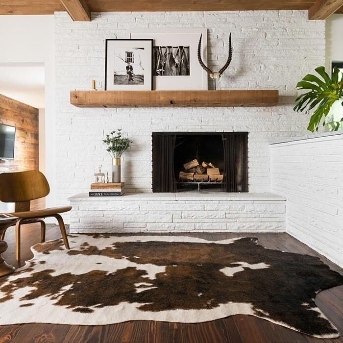 Binx cowhide area rug