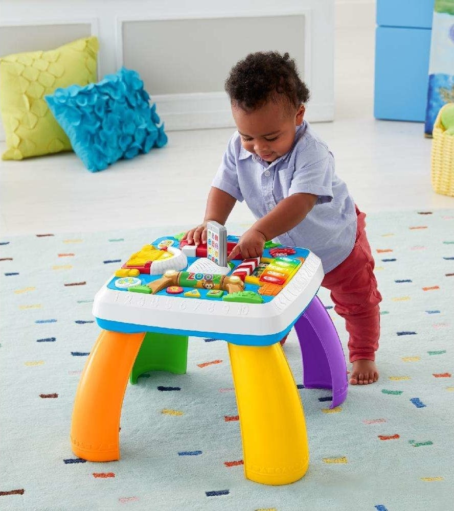A multicolored plastic learning table