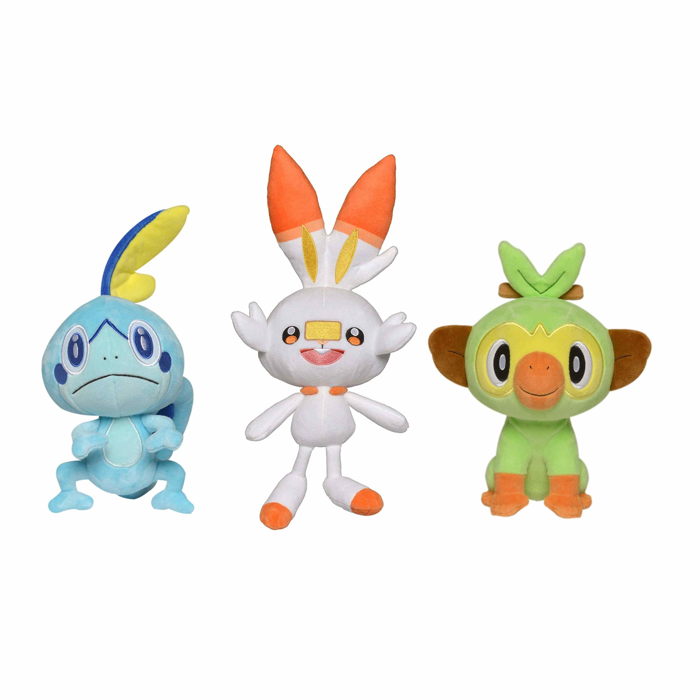Three plush Pokemon