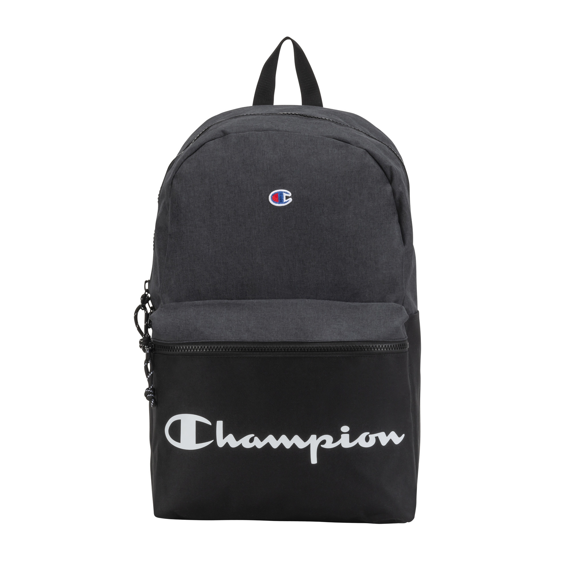 A black Champion backpack
