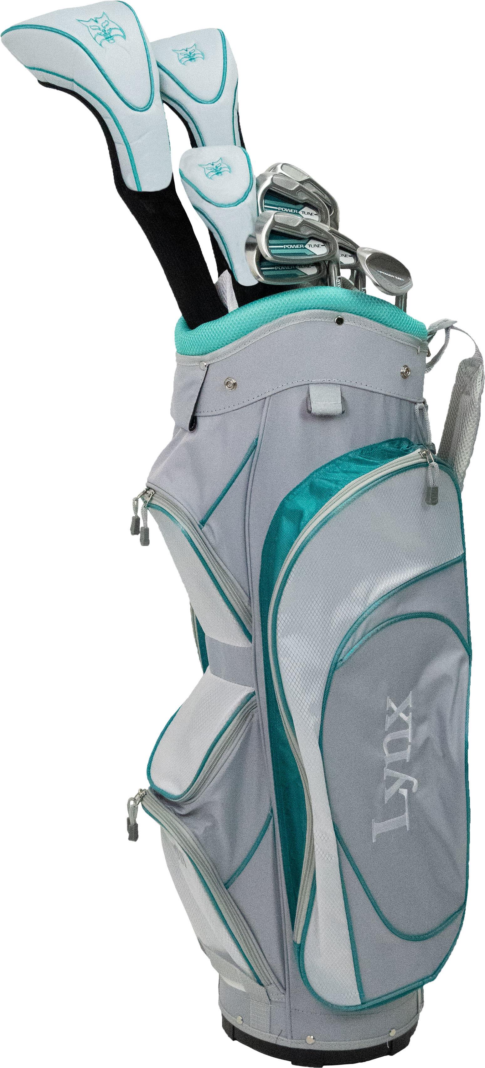 A blue 11-piece golf set