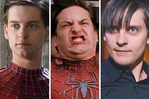 Spiderman throughout his trilogy movies