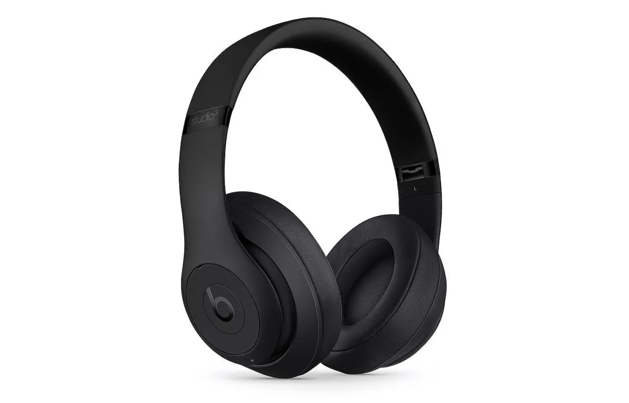 A pair of black over-the-ear headphones