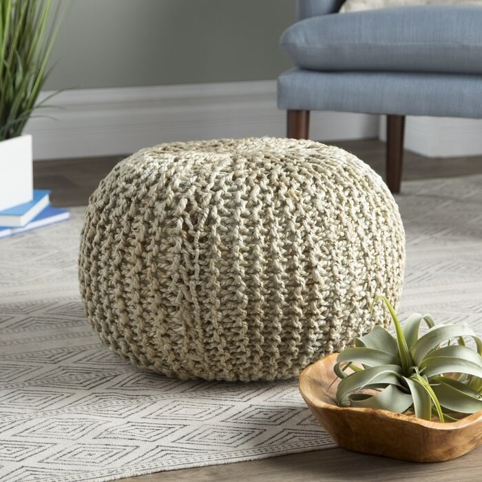 Odin Pouf in light gray